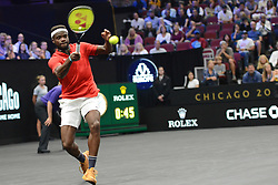 September 21, 2018 - Chicago, Illinois, United States - FRANCES TIEAFOE of the United States in action in the 2018 Laver Cup tennis event in Chicago. (Credit Image: © Christopher Levy/ZUMA Wire)