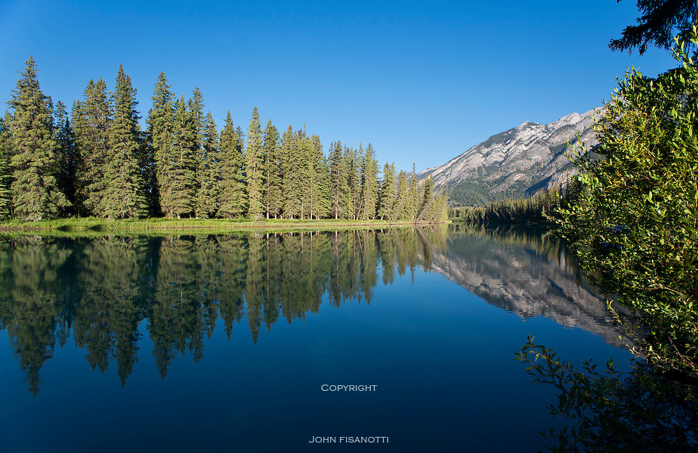 Bow River at Banff, Alberta Canada