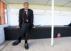 FILE PHOTO: Arsene Wenger is to leave Arsenal at the end of the season, ending a near 22-year reign as manager<br /><br /> Arsenal's manager Arsene Wenger ... Soccer - Friendly - Barnet v Arsenal - Underhill Stadium ... 19-07-2008 ... Barnet ... England ... Photo credit should read: Mike Egerton/EMPICS Sport. Unique Reference No. 6154495 ...