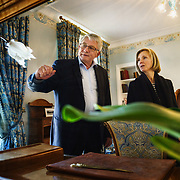 Séverine Frerson prepares to take over the role of cellar master from Hervé Deschamps at champagne Perrier-Jouët. Here, Deschamps shows her the Maison Belle Epoque, a property of the house and holds the world's largest collection of Art Nouveau.Frerson will be the first woman at the helm in a row of seven male cellar masters before her. Founded in 1811 in Epernay, Maison Perrier-Jouët is one of France's most historic champagne houses, but also one of its most distinctive, renowned for its floral and intricate champagnes which reveal the true essence of the Chardonnay grape. Started in 1811, its cellars holds the world's two oldest known bottles of champagne, the 1825 vintage.