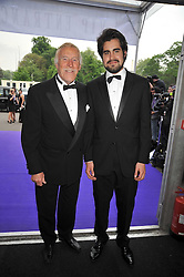 Left to right, BRUCE FORSYTH and his son JONATHAN FORSYTH at The Butterfly Ball in aid of the Caudwell Children Charity held in Battersea park, London on 14th May 2009.