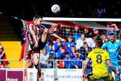Jason Shackell of Lincoln City clears the ball - Mandatory by-line: Robbie Stephenson/JMP - 13/04/2019 - FOOTBALL - Sincil Bank Stadium - Lincoln, England - Lincoln City v Cheltenham Town - Sky Bet League Two