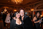 l to r: Gail Perry and Harriett Cole at The Fifth Annual Grace in Winter Gala honoring Susan Taylor, Kephra Burns, Noel Hankin and Moet Hennessey USA and benfiting The Evidence Dance Company held at The Plaza Hotel on February 3, 2009 in New York City.