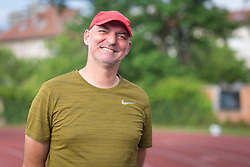 Coach Matija Sestak posing during day 2 of Slovenian Athletics Cup 2019, on June 16, 2019 in Celje, Slovenia. Photo by Peter Kastelic / Sportida