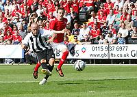 Photo: Steve Bond/Richard Lane Photography. Nottingham County v Nottigham Forest. Pre season Friendly. 25/07/2009. Luke Rodgers scores no1