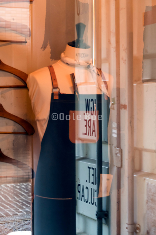 stylish costum made clothing store window display Kyoto Japan