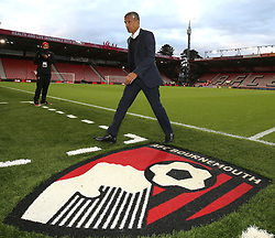 Brighton & Hove Albion manager Chris Hughton after inspecting the pitch before the game against Bournemouth
