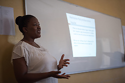 2 March 2017, Ma Mafefooane Valley, Lesotho: Teacher Mrs Lejaka leads anatomy class, as part of a course in Anatomy and physiology for first-year students in the general nursing programme. This lesson is on the neural system. The class consists of 31 students, both men and women, and is in its second semester. The Roma College of Nursing is a Roman Catholic non-profic institution under the Christian Health Association of Lesotho. The college educates nurses and midwives, and is situated adjacent to Saint Joseph's Hospital in the Ha Mafefooane Valley, some 35 kilometers from Lesotho's capital, Maseru. The school forms an integral part of Saint Joseph's Hospital, where the students acquire essential parts of their hands-on training. The school was founded in 1972, and is open to candidates of any gender and various religious backgrounds. Applications are also open to students from other countries. Most students begin their studies at the age of 19-20. Most are from Lesotho, but some are international. The college hosts a total of some 120 students. Four out of five are women. Through sponsorship from ICAP and the Nursing Education Partnership Initiative (NEPI), which draws funds from PEPFAR, the school maintains a library and a skills laboratory specifically designed to improve nursing education in Lesotho. There are six nursing training institutions in Lesotho in total, of which four are denominational as part of the Christian Health Association of Lesotho, and thus owned by the churches. Two institutions are public, run by the government.