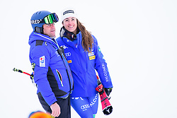 January 19, 2018 - Cortina D'Ampezzo, Dolimites, Italy - Sofia Goggia of Italy celebrating her victory at the Cortina d'Ampezzo FIS World Cup in Cortina d'Ampezzo, Italy on January 19, 2018. (Credit Image: © Rok Rakun/Pacific Press via ZUMA Wire)