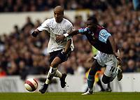 Photo: Olly Greenwood.<br />Tottenham Hotspur v West Ham United. The Barclays Premiership. 22/10/2006. Tottenham's Benoit Assou-Ekotto and West Ham's John Panstil