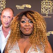 NLD/Amsterdam/20180927 - Opening Holland Casino Amsterdam West, Berget Lewis en partner Maik Galenkamp