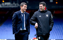Watford manager Javi Gracia (left) and Analyst Isidre Ramon Madir inspect the pitch prior to the Premier League match at Selhurst Park, London.