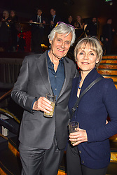 Simon Williams and Lucy Fleming at the Costa Book of The Year Award held at  Quaglino's, 16 Bury Street, London, England. 29 January 2019. <br /> <br /> ***For fees please contact us prior to publication***