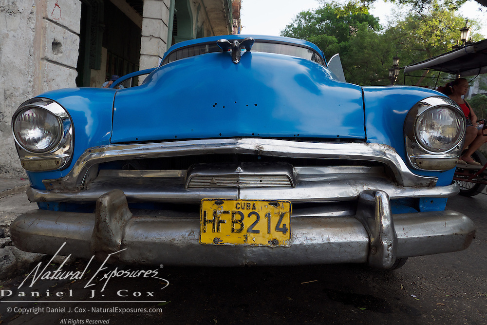 Vintage cars from the days before the revolution are common on the streets of Havana, Cuba