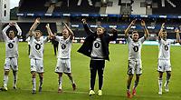 Fotball <br /> UEFA Europa League Qualification<br /> 23.07.2015<br /> Rosenborg v KR Reykjavik<br /> Foto: Tor Inge Langberg/Digitalsport<br /> <br /> RBK jubler for avansement<br /> Mike Jensen (L) - Mikael Dorsin (3L) - Alexander Søderlund (4L) - Jonas Svensson (5L)