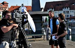 Eberhard Magg from Match Race Germany is interview by WMRT. Photo:Chris Davies/WMRT