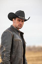 stunning cowboy outdoors
