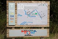TEXEL - Hole 10 holebord. De Cocksdorp.  - Golfbaan De Texelse. COPYRIGHT KOEN SUYK