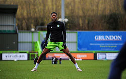 Ebou Adams of Forest Green Rovers warms up prior to kick-off- Mandatory by-line: Nizaam Jones/JMP - 16/01/2021 - FOOTBALL - innocent New Lawn Stadium - Nailsworth, England - Forest Green Rovers v Port Vale - Sky Bet League Two
