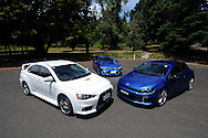 Multicar Test - 2012 Mitsubishi Lancer Evolution X vs Ford Performance Vehicle F6 vs Volkswagen Scirocco.Healesville area, Victoria.2nd February 2012.(C) Joel Strickland Photographics.Use information: This image is intended for Editorial use only (e.g. news or commentary, print or electronic). Any commercial or promotional use requires additional clearance.