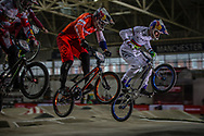 #148 (VAN GENDT Twan) NED and #33 (DAUDET Joris) FRA at the 2016 UCI BMX Supercross World Cup in Manchester, United Kingdom<br /> <br /> A high res version of this image can be purchased for editorial, advertising and social media use on CraigDutton.com<br /> <br /> http://www.craigdutton.com/library/index.php?module=media&pId=100&category=gallery/cycling/bmx/SXWC_Manchester_2016