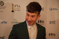 Barry Keoghan, awarded Best Supporting Actor for the film The Killing of a Sacred Deerat the IFTA Film & Drama Awards (The Irish Film & Television Academy) at the Mansion House in Dublin, Ireland, Thursday 15th February 2018. Photographer: Doreen Kennedy