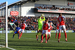 6th January 2018 - FA Cup - 3rd Round - Fleetwood Town v Leicester City - Fleetwood goalkeeper Chris Neal catches the ball - Photo: Simon Stacpoole / Offside.