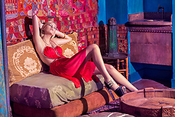 Editorial Fashion. Casablanca Dream with Model Alex Elizabeth. Photographed at the famous historic Hotel Figueroa Los Angeles California. Hair Stylist Lucy Gedjeyan. Makeup Artist Whitney Gregory. Stylist Melissa Laskin. All Rights Reserved. Copyright Amyn Nasser.