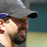 21 July 2007:  Colorado Rockies first baseman Todd Helton (17) warms up prior to the game against the Washington Nationals.  The Nationals defeated the Rockies 3-0 at RFK Stadium in Washington, D.C.  ****For Editorial Use Only****