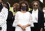 Funeral of a man who died after being in the hospital for three months due to Covid-19- in the black community in St. John the Baptist Parish, one of the River Parishes in an area between Baton Rouge and New Orleans known as 'Cancer Alley' due to the large number of refineries and petrochemical plants.