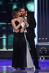 Rossano Rubicondi and Samanta Togni appear on an episode of Dancing with the Stars - Rome
