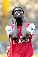 Photo: Ed Godden/Sportsbeat Images.<br /> Tottenham Hotspur v Arsenal. The Barclays Premiership. 21/04/2007. Arsenal's Emmanuel Adebayor.