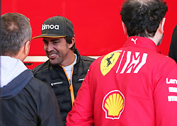 February 26, 2019 - Barcelona, Spain - Fernando Alonso i nthe hospitality of Ferrari during the Formula 1 test in Barcelona, on 26th February 2019, in Barcelona, Spain. (Credit Image: © Joan Valls/NurPhoto via ZUMA Press)