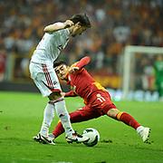 Galatasaray's Albert Riera Ortega (R) during their Turkish Super League soccer match Galatasaray between Sivasspor at the AliSamiYen Spor Kompleksi TT Arena at Seyrantepe in Istanbul Turkey on Sunday 05 May 2013. Photo by TURKPIX