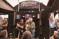 Jorma Koukenen jamming with Craig Thatcher of Martin Guitars while demonstrating his new Martin Guitar model at the NAMM Show - January 14, 2010