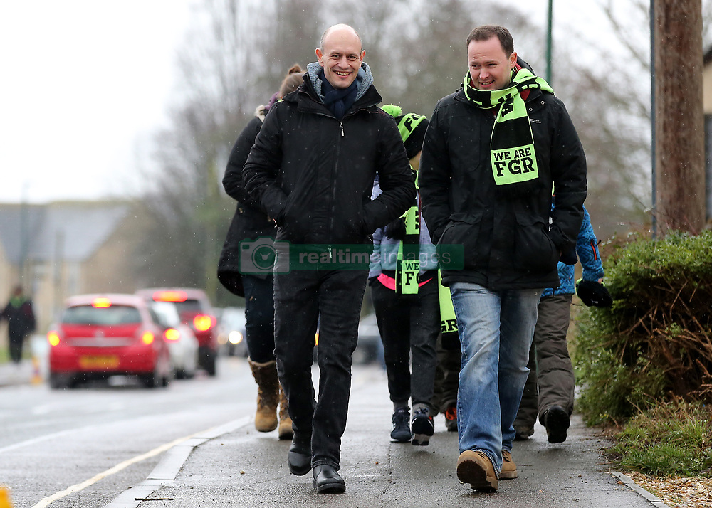 Forest Green Rovers fans make their way to The New Lawn