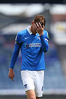 Football - 2020 / 2021 Sky Bet League One - Portsmouth vs. Accrington Stanley - Fratton Park<br /> <br /> A dejected Portsmouth's Tom Naylor as he makes his way to talk to the TV cameras at Fratton Park <br /> <br /> COLORSPORT/SHAUN BOGGUST