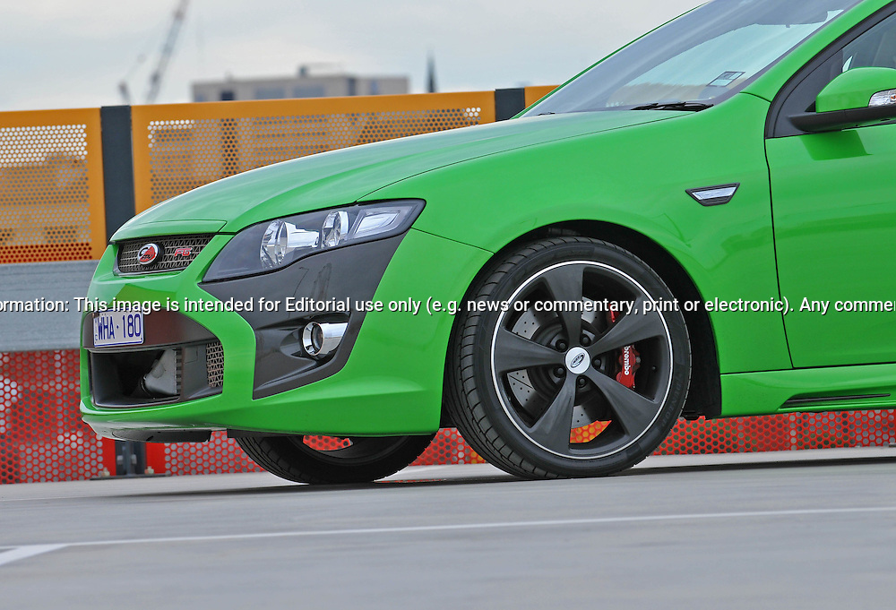 2009 Ford FPV F6 Photo Shoot in Dash green.Docklands, Melbourne, Victoria .24th of May 2009.(C) Joel Strickland Photographics.Use information: This image is intended for Editorial use only (e.g. news or commentary, print or electronic). Any commercial or promotional use requires additional clearance.