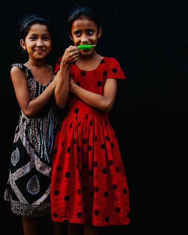Portrait of asian girls
