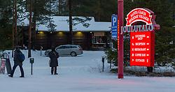 THEMENBILD - Besuch beim Weihnachtsmann, im Bild Aussenansicht des Santa Claus Dorfes. Bild aufgenommen am 03.12.2013, Santa Claus Village in Rovaniemi, Finnland // Feature - Visiting the Santa Claus, Exterior view of the Santa Claus village. Picture taken on 2013/12/03, Santa Claus Village, Rovaniemi, Finland. EXPA Pictures © 2013, PhotoCredit: EXPA/ JFK