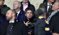 Noel Gallagher in the stands during the Carabao Cup third round match at the Kassam Stadium, Oxford.