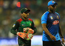 September 26, 2018 - Abu Dhabi, United Arab Emirates - Bangladesh cricketer Mushfiqur Rahim walks back to the pavilion with an injury during the Asia Cup 2018 cricket match  between Bangladesh and Pakistan at the Sheikh Zayed Stadium,Abu Dhabi, United Arab Emirates on September 26, 2018  (Credit Image: © Tharaka Basnayaka/NurPhoto/ZUMA Press)