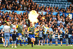 Cardiff Blues take to the field <br /> <br /> Photographer Craig Thomas/Replay Images<br /> <br /> European Rugby Challenge Cup Round Semi final - Cardiff Blues v Pau - Saturday 21st April 2018 - Cardiff Arms Park - Cardiff<br /> <br /> World Copyright © Replay Images . All rights reserved. info@replayimages.co.uk - http://replayimages.co.uk