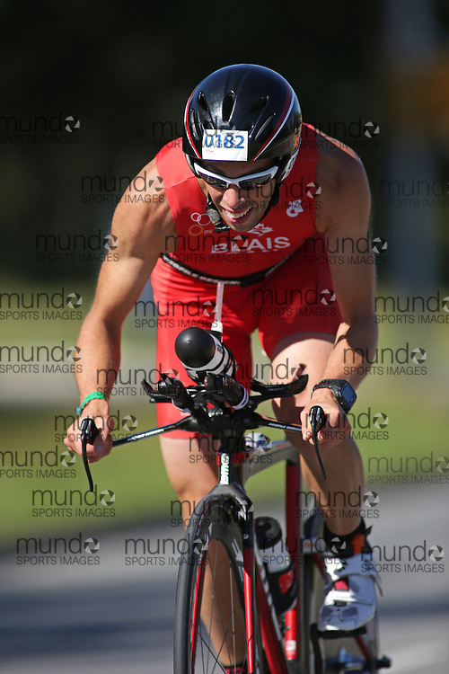 (Ottawa, Canada---10 August 2013)  Pierre-Luc Blais (182)  of Canada (CAN) competing in the 25-29 Male AG International Triathlon Union 2013 World Duathlon Championships (10 km run- 40 km bike- 5km run).