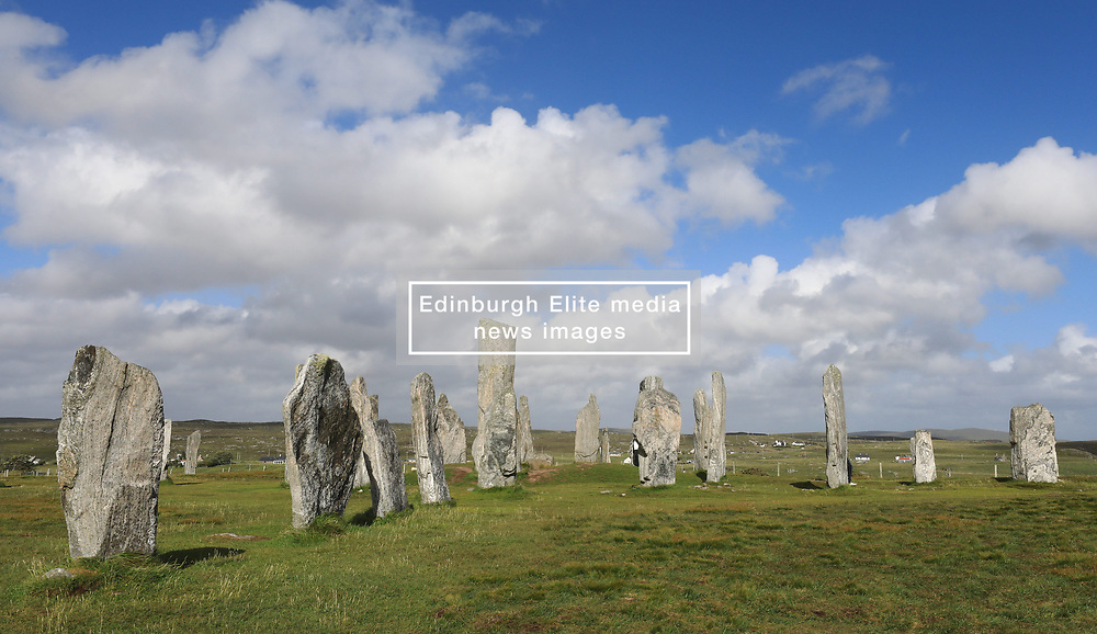 Located on the west coast of Lewis the 5000 year old Callanish Stones are an arrangement of standing stones placed in a cruciform pattern with a central stone circle. They were erected in the late Neolithic era, and were a focus for ritual activity during the Bronze Age........ (c) Stephen Lawson   Edinburgh Elite media