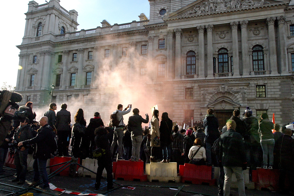 Student demo against cuts. central London 24/11/10
