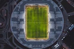 THEMENBILD - die beleuchtete NV Arena am Abend. Sie ist die Heimstätte des Österreichischen Fussball Bundesligisten SKN St. Pölten und hat ein Fassungsvermögen von 8.000 Zuschauern auf überdachten Sitzplätzen, aufgenommen am 17. April 2021 in St. Poelten, Oesterreich // the illuminated NV Arena in the evening. It is the home ground of the Austrian Football League team SKN St. Pölten and has a capacity of 8,000 spectators in covered seats. St. Poelten, Austria on 2021/04/17. EXPA Pictures © 2021, PhotoCredit: EXPA/ JFK