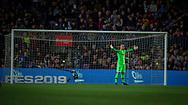 Ter Stegen ,goalkeeper of FC Barcelona during the Spanish league football match of 'La Liga'  FC BARCELONA against RAYO VALLECANO at Camp Nou Stadium of Barcelona on March 9,2019
