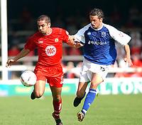 Fotball<br /> 04.09.2004<br /> Foto:SBI/Digitalsport<br /> NORWAY ONLY<br /> <br /> Coca Cola League One.<br /> Peterborough V Bristol City<br /> <br /> Peterborough United's Gareth Jellyman and Bristol City's Bradley Orr