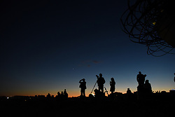 November 14, 2016 - Madrid, Madrid, Spain - People waiting for to see the supermoon over the city of Madrid. (Credit Image: © Jorge Sanz/Pacific Press via ZUMA Wire)
